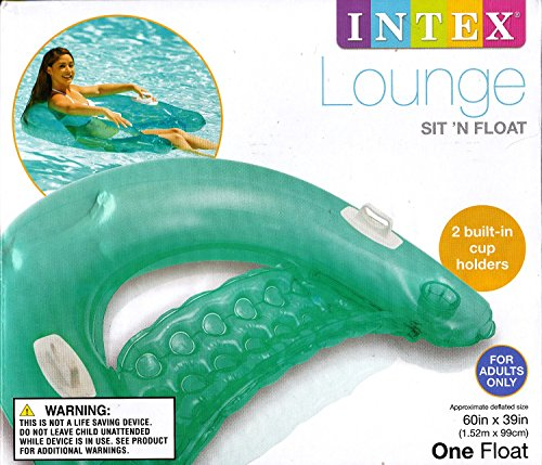 INTEX Sit n Float Classic Inflatable Raft Swimming Pool Lounge (Green Lounge)