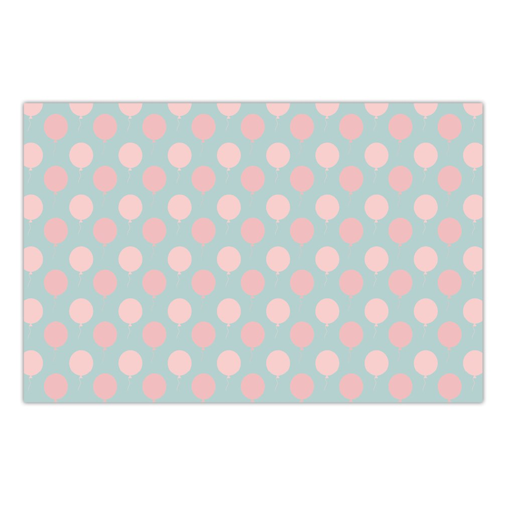 DB Party Studio Pack of 25 Paper Place Mats Pink Balloons Brunch Luncheon Newborn Baby Shower Girl Gender Mommy-To-Be Office Parties Disposable Dining Table Setting Easy Cleanup Placemats 17