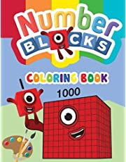 Numberblocks coloring book: Numberblocks 1 to 1000 - High Quality, Fun, Easy and Relaxing Coloring Pages For Children.