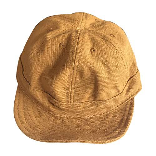 URIBAKE Unisex Solid Brimed Cap Plain Demin Baseball Visor Sun Hat Yellow e3e8723558b9