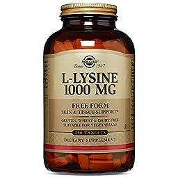 Solgar L-Lysine 1000 mg Tablets  250 Count