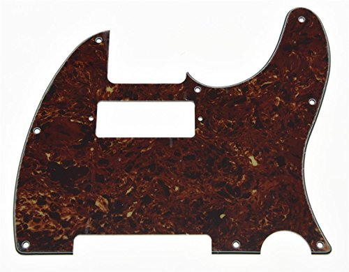 KAISH Tele Guitar Pickguard Scratch Plate with Mini Humbucker Pickup Hole fits USA/Mexican Fender Telecaster Vintage Tortoise