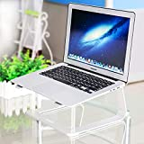 Laptop Stand, ZHIKE Aluminum Ventilated Stand Update Version-Notebook Desk/Holder/Table Compatible with Apple MacBook, Air, Pro, Dell XPS, HP, Samsung, Lenovo More 10''~17'' Notebooks(Silver)