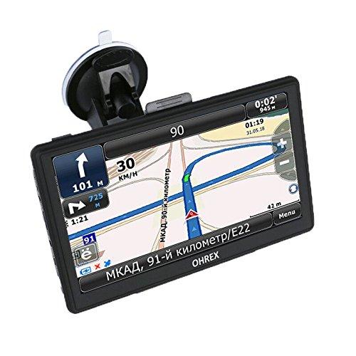 OHREX 718 Premium Pack 7 Inch Portable Touchscreen AV-in Truck Car GPS Satellite Navigation - Licensed Full World Maps and Free Lifetime Update