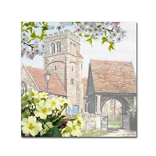 Church Primroses by The Macneil Studio, 14x14-Inch Canvas Wall (Primrose Gate)