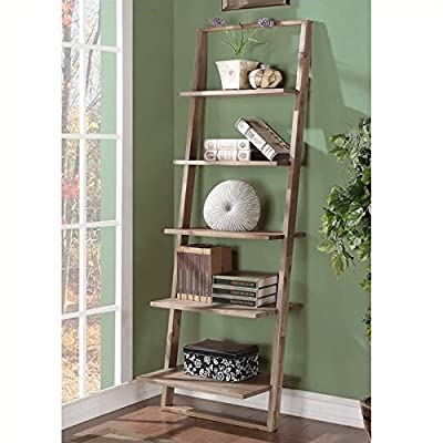 Riverside Furniture 597355 Modern Learning Bookcase Brown - Five fixed shelves Tip restraining hardware Made from Acacia hardwood solid - living-room-furniture, living-room, bookcases-bookshelves - 51h2WAK5OwL. SS400  -