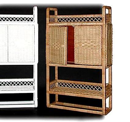 Gentil Honey Stain Wicker Bathroom Wall Medicine Cabinet