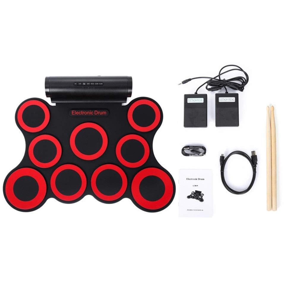 直送商品 ロールアップドラム size 赤 9シリコンパッドロールアップ電子ドラムセットサポートDTXゲームUSB MIDI練習ドラムキット内蔵ダブルステレオスピーカーヘッドフォンジャックサスティンペダルドラムスティック録音再生機能ギフト子供のための : (色 : 赤, サイズ : Free size) Free size 赤 B07QBXPTWQ, 遠敷郡:05297e17 --- a0267596.xsph.ru