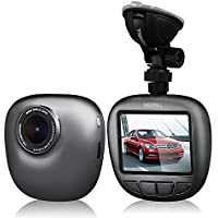 MERRiLL Dash cam,1080P Full HD Night Vision 6-Lane 170° Wide-Angle View Lens,15 Megapixel Car Camera G-Sensor, WDR, Loop Recording, Night Mode, Support 128G Card ,Parking Monitoring With 8GB TF Card