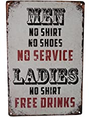 Beer Alcohol Free Drinks Funny Tin Sign Bar Pub Diner Cafe Wall Decor Home Decor Art Poster Retro Vintage
