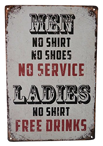 Beer Alcohol Free Drinks Funny Tin Sign Bar Pub Diner Cafe Wall Decor Home Decor Art Poster Retro Vintage ()