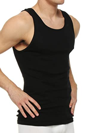 Polo Ralph Lauren 3 Ribbed Tanks (RL67) S/Black