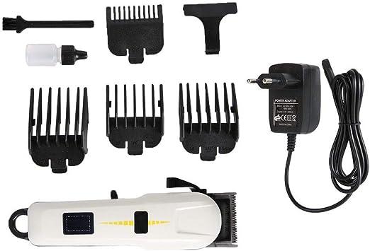Recortador de Barba con Pantalla LCD, Cortapelos Máquina de Afeitar Eléctrico para Hombres, Kit de Recortadora de Barba Afeitadora Corporal Cortapelos Podadoras de Pelo(EU): Amazon.es: Belleza