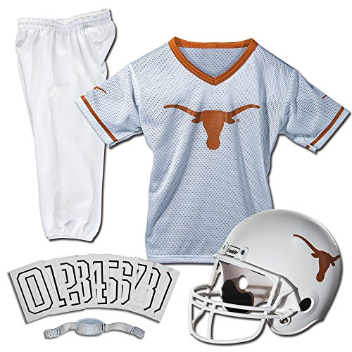 Longhorns Football Jersey Texas (Franklin Sports NCAA Texas Longhorns Deluxe Youth Team Uniform Set, Medium)