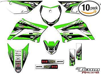 Team Racing Graphics kit compatible with Kawasaki 2002-2009 KLX 110 SCATTER