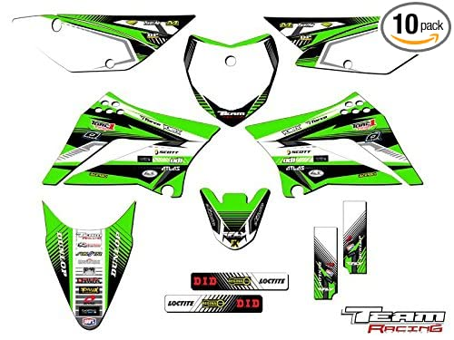 Team Racing Graphics kit for 2010-2019 Kawasaki KLX 110, ANALOG Complete Kit