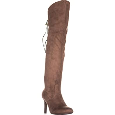 RIALTO Womens Calla Faux Suede Tall Over-The-Knee Boots Taupe 5.5 Medium ( 6fbf65cc97