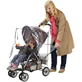 J is for Jeep Deluxe Stroller Weather Shield, Baby Rain Cover, Universal Size, Waterproof, Water Resistant, Windproof, See Thru, Ventilation, Clear, Plastic, Protection, Shade, Umbrella, Pram, Vinyl