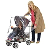 Jeep Deluxe Stroller Weather Shield, Baby Rain Cover, Universal Size, Waterproof, Water Resistant, Windproof, See Thru, Ventilation, Protection, Shade, Umbrella, Pram, Vinyl, Clear, Plastic