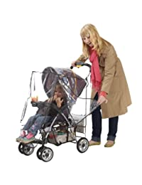 J is for Jeep Deluxe Stroller Weather Shield, Baby Rain Cover, Universal Size, Waterproof, Water Resistant, Windproof, See Thru, Ventilation, Protection, Shade, Umbrella, Pram, Vinyl, Clear, Plastic BOBEBE Online Baby Store From New York to Miami and Los Angeles