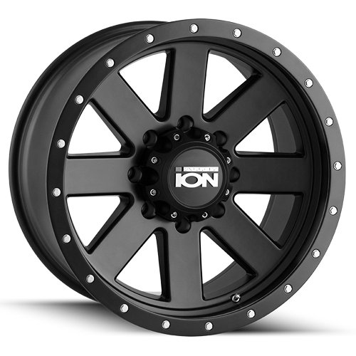 Ion 134 Matte Black/Black Beadlock Wheel with Painted finish Finish (17×8.5/5x127mm)