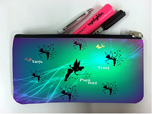 (Cute Pixies with Butterflies Design Print Image Student Pen Pencil Case Coin Purse Pouch Cosmetic Makeup Bag)