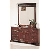 Amazoncom Distressed and Mirror  Dressers  Bedroom Furniture