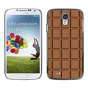 Caucho caso de Shell duro de la cubierta de accesorios de protección BY RAYDREAMMM - Samsung Galaxy S4 I9500 - Chocolate Checkered Pattern Wallpaper Art