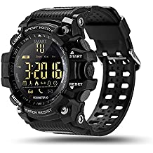 ROADTEC Digital Smart Watch, IP67 Waterproof 5ATM Bluetooth 4.0 Sport Smartwatch with Call SMS Notification Pedometer Remote Camera for iOS Android …