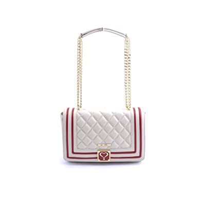 Quilted Shoulder Bag - Ivory Love Moschino b7uipp
