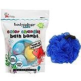 KIDS BATH SET Bodycology Kids Watermelon Bath Bombs & Loofah (colors may vary)