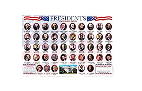 Amazon painless learning presidents placemat home kitchen painless learning presidents placemat urtaz Image collections