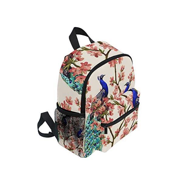 Peacock Kid Zaino Scuola Bookbag Bambini Viaggio Daypack Ragazza Ragazzo 3-8 Anni Bambino Prescolare 2 spesavip