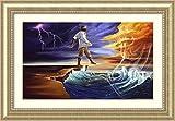 Framed Art Print 'Step Out on Faith: Male' by WAK-Kevin A. Williams