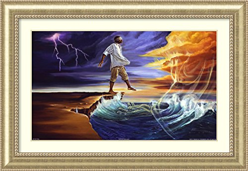 Framed Art Print 'Step Out on Faith: Male' by WAK-Kevin A. Williams by Amanti Art
