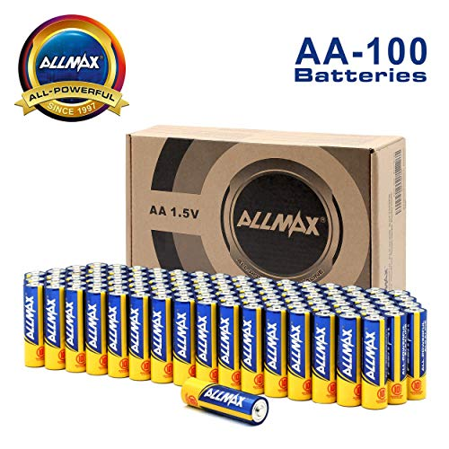 ALLMAX AA Batteries (100-Bulk Pack), Double A 1.5 Volt All-Powerful Alkaline Battery, Ultra Long Lasting and -