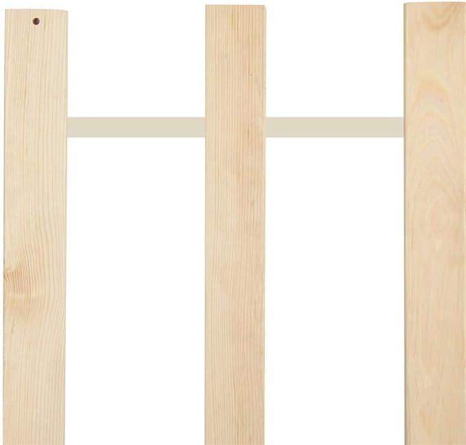 vidaXL Madera de Pino Maciza Somier Enrollable Somier de Láminas Lamas Somier con 23 Láminas sin Patas para Cama en Habitación 120x200 cm