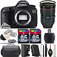 Canon EOS 5DS DSLR 50.6MP Full-Frame CMOS Camera + Canon EF 24-70mm f/2.8L II USM Lens + 64GB Storage + Wrist Grip Strap + Case + UV Filter + Card Reader + Air Cleaner - International Version