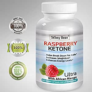 ••• RASPBERRY KETONE PLUS™ Ketones Potent Fat Burner Capsules PLUS African Mango extract powder for weight loss diet pills with grape seed & apple cider vinegar