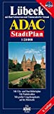 Rostock (Germany) 1:20,000 Street Map & Environs, GPS-compatible ADAC
