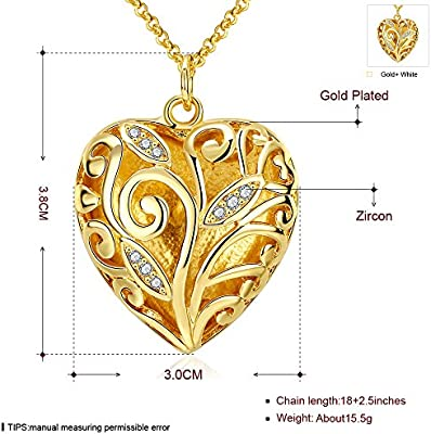 LQinuan Design Pendants Gold Plated Necklaces Crystal Jewelry Zirconia Gemstones Chain for Women Girls