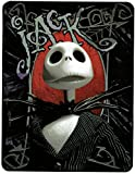 jack skellington blanket - Northwest Nightmare Before Christmas 'Hey Jack - Gray Shades' Super Plush Throw, 46 by 60-Inch - 25th Anniversary Special