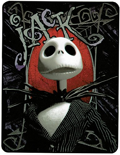 Northwest Nightmare Before Christmas 'Hey Jack - Gray Shades' Super Plush Throw, 46 by 60-Inch - 25th Anniversary Special -