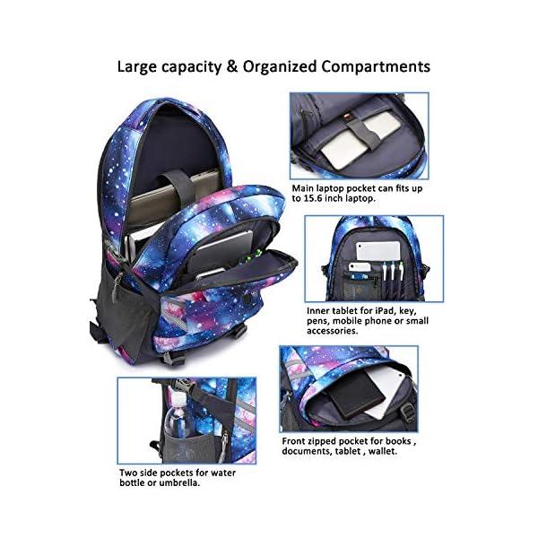 Zaino Scuola Superiore per PC 15.6 Pollici da ragazzo e ragazza, Backpack Portabile Casual Rucksack per Laptop… 3 spesavip
