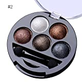 mineral fusion eye makeup remover - 5 Colors Pigment Eyeshadow Palette Eye Shadow Powder Metallic Shimmer Makeup Beauty Professional Make Up Warm Color Waterproof #2