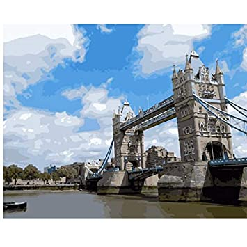 Xigzi Londres Thames River Tower Bridge Bateau Nuage Diy
