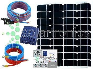 50 vatios 12 VOLTIOS Solar Set Unidad Solar inselanlage ...