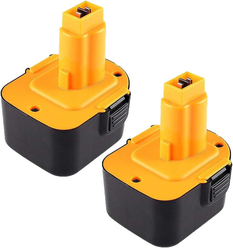 Hochstern 2 Pack 3.0Ah Ni-MH Reemplazo para batería Dewalt 12V DC9071 DE9037 DE9071 DE9072 DE9074 DE9075 DW9071 DW9072 DE9501 152250-27 397745-01