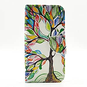 qyf The Tree Pattern PU Leather Full Body Case with Stand and Card Holder for Samsung Galaxy S6 Edge