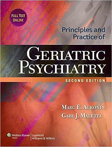 Principles and Practice of Geriatric Psychiatry